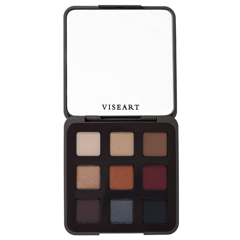 Viseart Golden Hour Eyeshadow Palette open with full-sized mirror