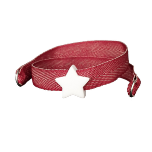 BRACCIALE BORDEAUX TWEED STELLA BIANCA