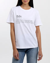 Load image into Gallery viewer, Babe Definition Crew Neck Tee