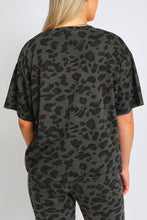 Load image into Gallery viewer, The Leopard Boxy Crew Neck Tee
