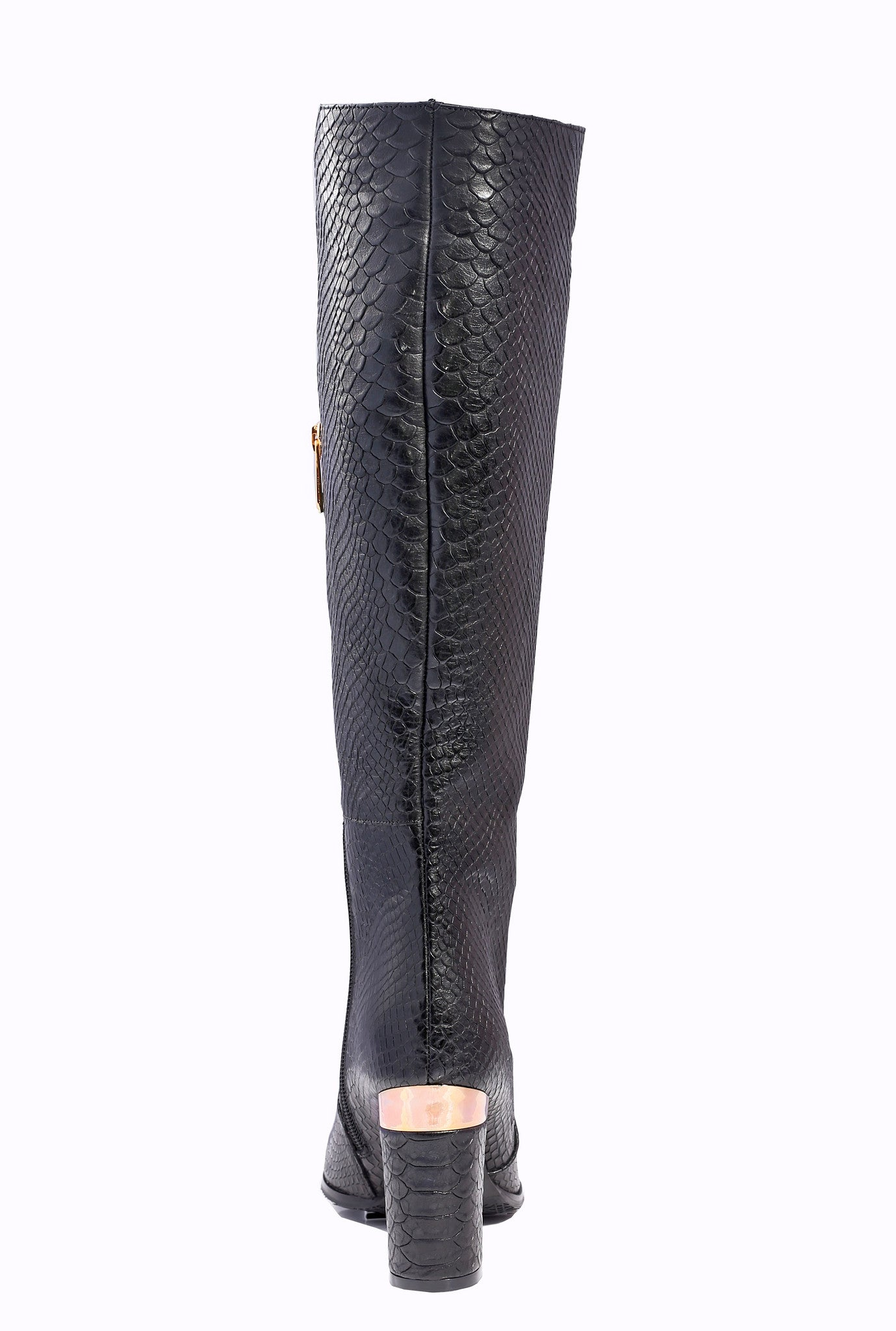 36f26b34fff7 ... BLACK   GOLD THIGH HIGH BOOTS - SOLD OUT