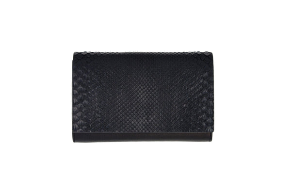 Handmade Python Leather Clutch -- SOLD OUT --