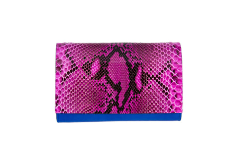 SOLD OUT - Handmade Python Leather Clutch
