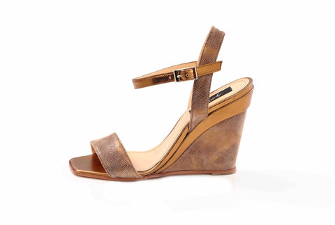 Gold & Brown Sandals