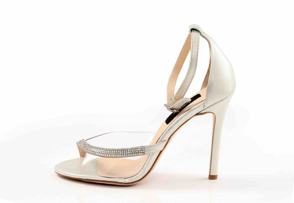 Silver Crystal Sandals