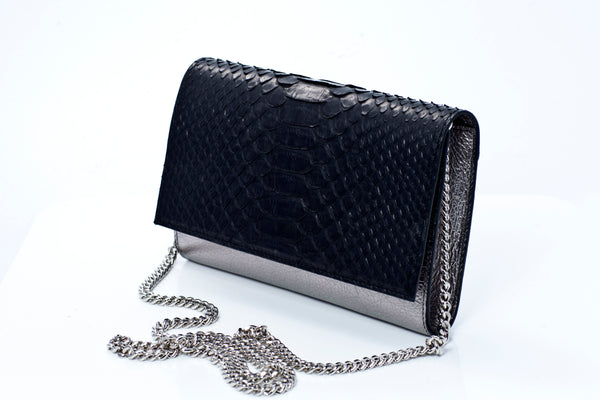 Isabella Handmade Python Leather Clutch