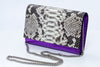 Glory Handmade Python Leather Clutch
