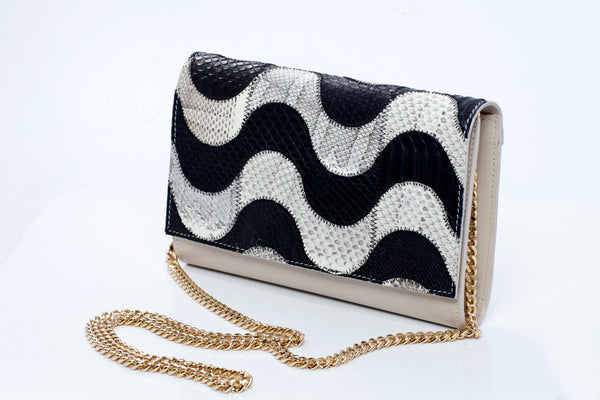 Grace Handmade Python Leather Clutch