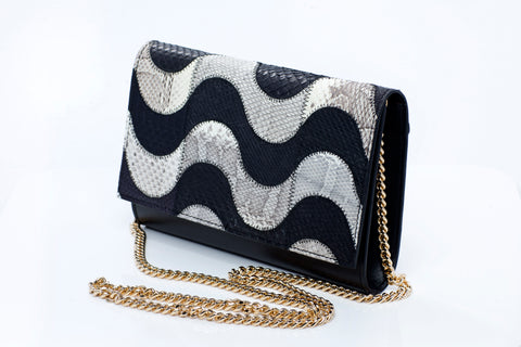 Aria Handmade Python Leather Clutch