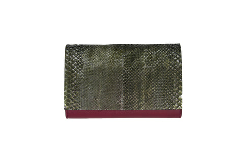 Handmade Python Leather Clutch