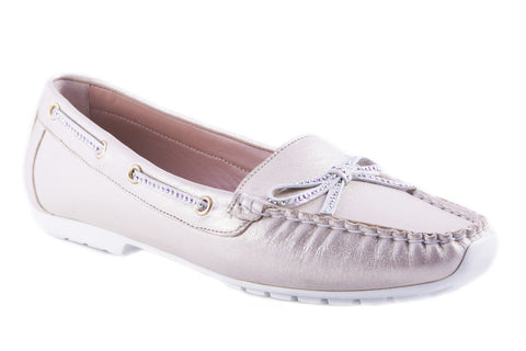 Sold Out - Metallic Champagne Loafer