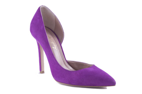 PURPLE SUEDE PUMPS