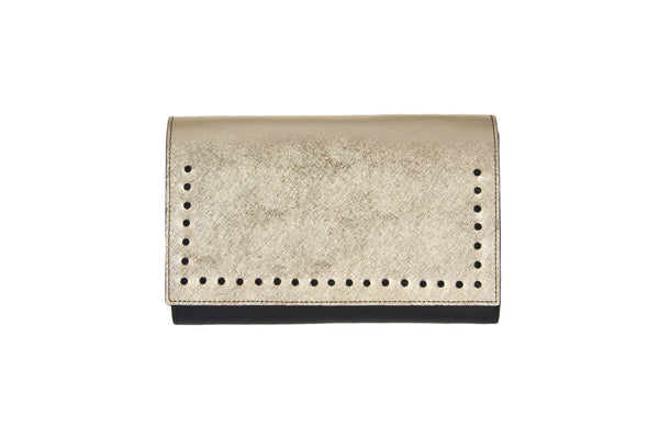 -- SOLD OUT --Handmade Saffiano Leather Clutch