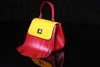 Pony Hair Red & Yellow Bag with Fringe