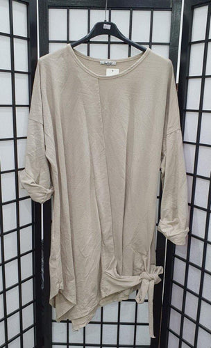 Italian Plain Knot Detail Long Sleeve Tunic freeshipping - herfreespirit