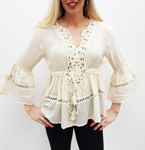 Beautiful boho top freeshipping - herfreespirit