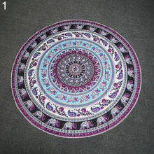 Load image into Gallery viewer, Boho Ethnic Large Round Tapestry Shawl Wall Hanging Beach Throw Yoga Mat Towel freeshipping - herfreespirit