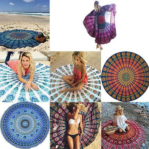 Boho Bohemian Hippie Summer Dress Swimwear Bathing Suit Sexy Beach Cover Up freeshipping - herfreespirit