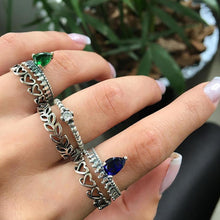 Load image into Gallery viewer, 6Pcs/Set Boho Stacking Midi Knuckle Finger Rings Women Antique Hollow Jewelry freeshipping - herfreespirit
