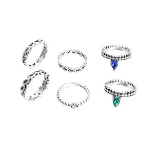 6Pcs/Set Boho Stacking Midi Knuckle Finger Rings Women Antique Hollow Jewelry freeshipping - herfreespirit