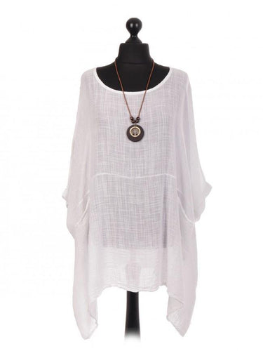 Plain Batwing Top With Necklace freeshipping - herfreespirit