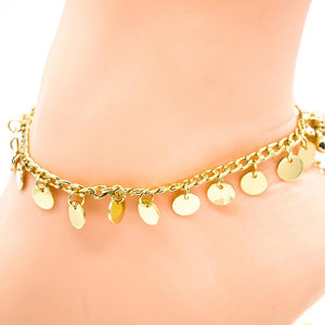 Women Fashion Boho Bell Round Charms Anklets Ankle Bracelet Chain Foot Jewelry freeshipping - herfreespirit