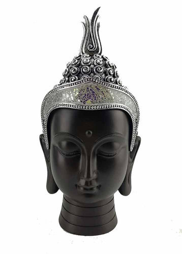 Large Black Buddha head/ buddha head large freeshipping - herfreespirit