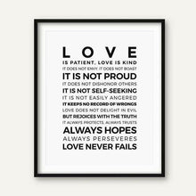 Load image into Gallery viewer, Love is Patient Love is Kind Print freeshipping - herfreespirit