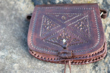 Load image into Gallery viewer, BOHO leather small bag/leather boho bag