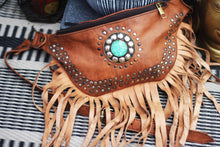 Load image into Gallery viewer, Boho leather bumbag/MADE IN UK freeshipping - herfreespirit