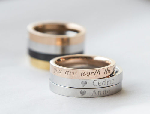 Couple Rings Personalized Couple Gift, Rose Gold freeshipping - herfreespirit