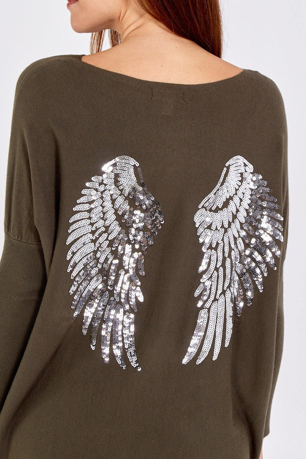 Silver Sequin Wing Oversized Jumper & Legging Set freeshipping - herfreespirit