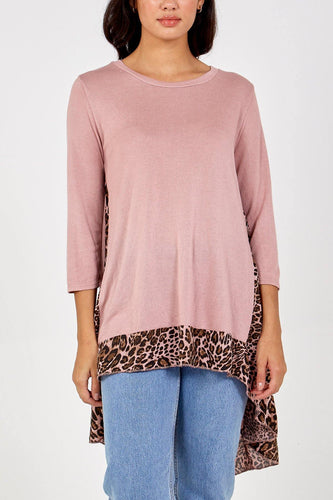 Leopard Chiffon Insert High Low Top freeshipping - herfreespirit