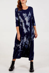 Long Sleeve Tie Dye Parachute Dress/EXPRESS DELIVERY