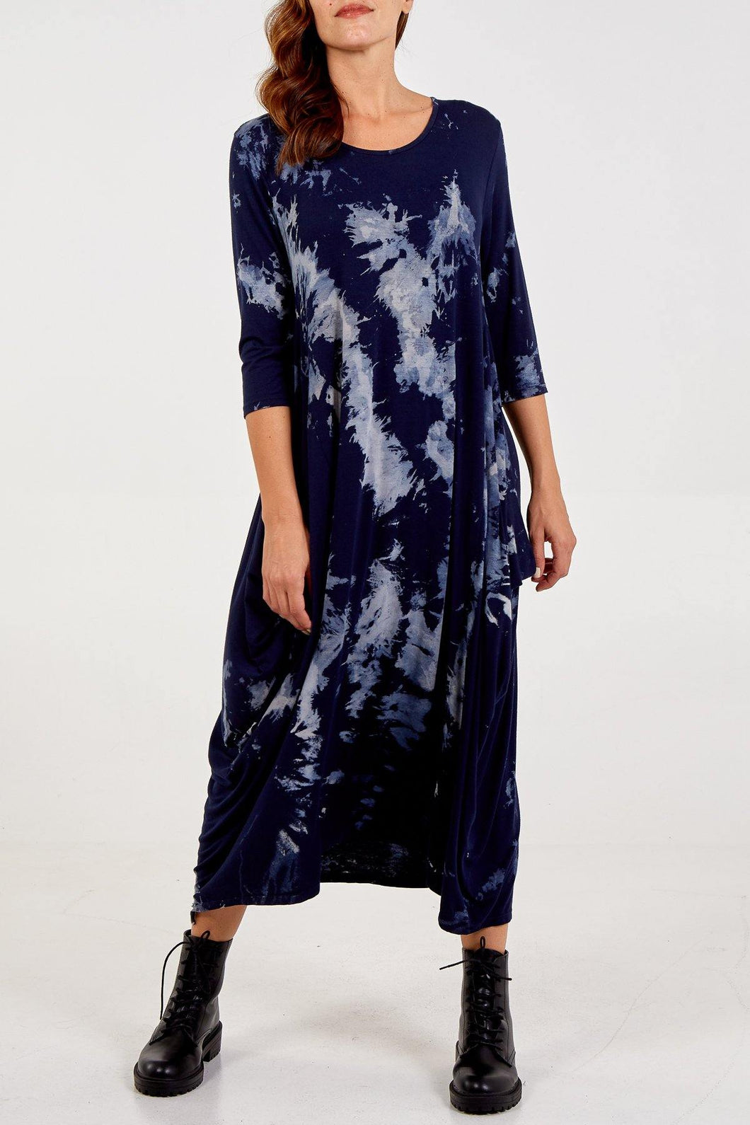 Long Sleeve Tie Dye Parachute Dress/EXPRESS DELIVERY freeshipping - herfreespirit