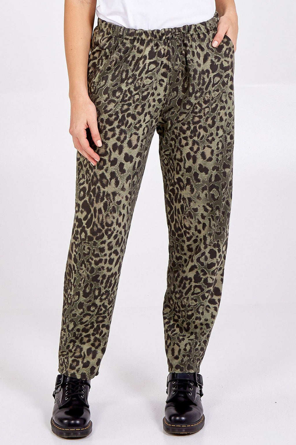 Relaxed Leopard Print Trousers freeshipping - herfreespirit