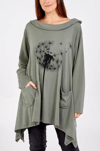 Scoop Neck Dandelion Design Long Sleeve Sweatshirt freeshipping - herfreespirit