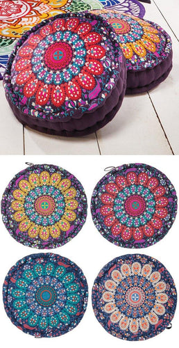 Peacock Print Filled Pouffe freeshipping - herfreespirit
