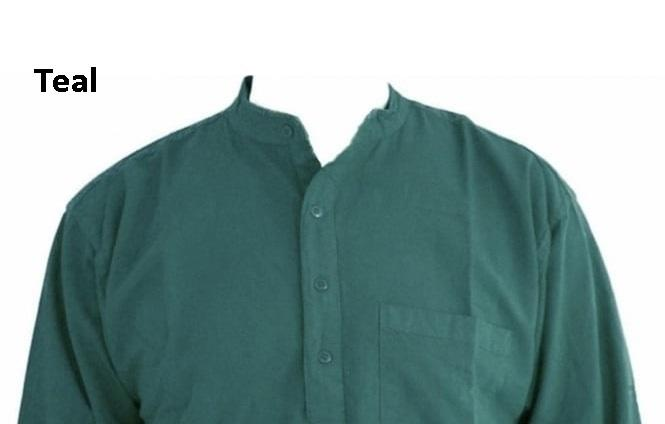 Teal Grandad shirt/100 percent cotton