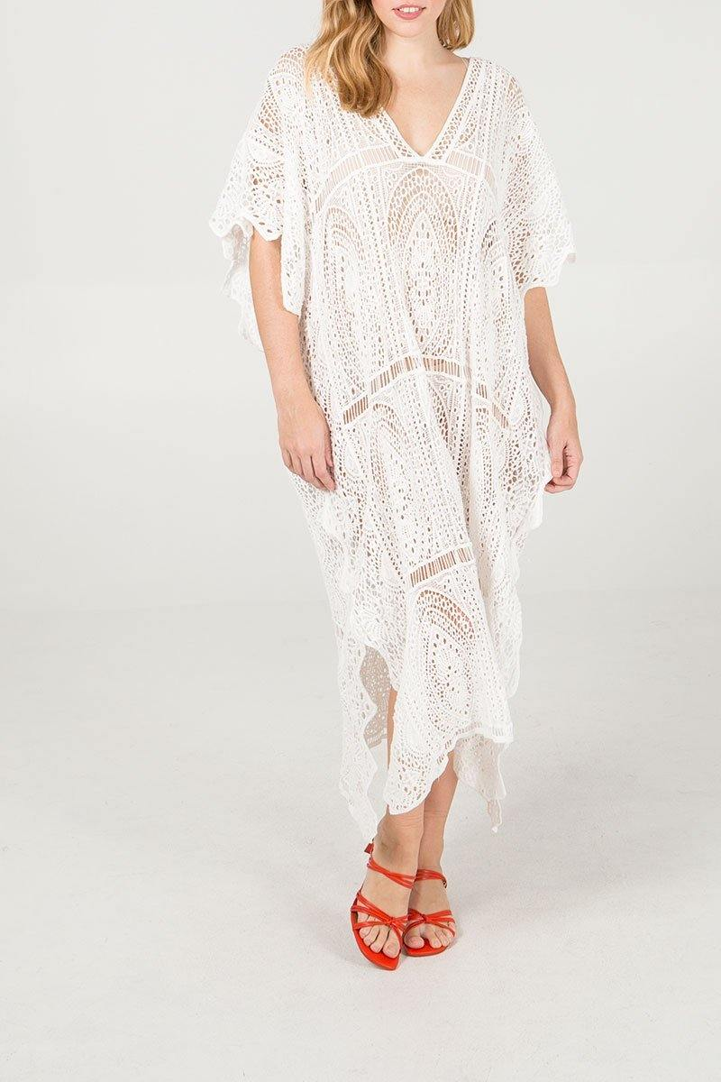 Crochet Maxi Kaftan/EXPRESS DELIVERY freeshipping - herfreespirit