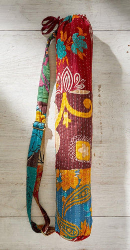 Vintage Kantha Yoga Mat Bag freeshipping - herfreespirit