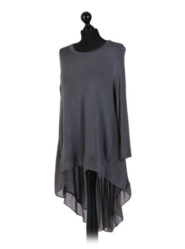 Italian Chiffon Back Top freeshipping - herfreespirit