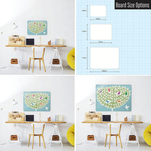 Birds in a Tree - Large Magnetic Notice Board
