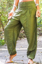 Load image into Gallery viewer, SOLID Green Women Boho Pants Hippie Pants Yoga
