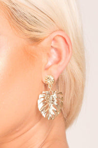 Michelle Gold Leaf Earrings freeshipping - herfreespirit