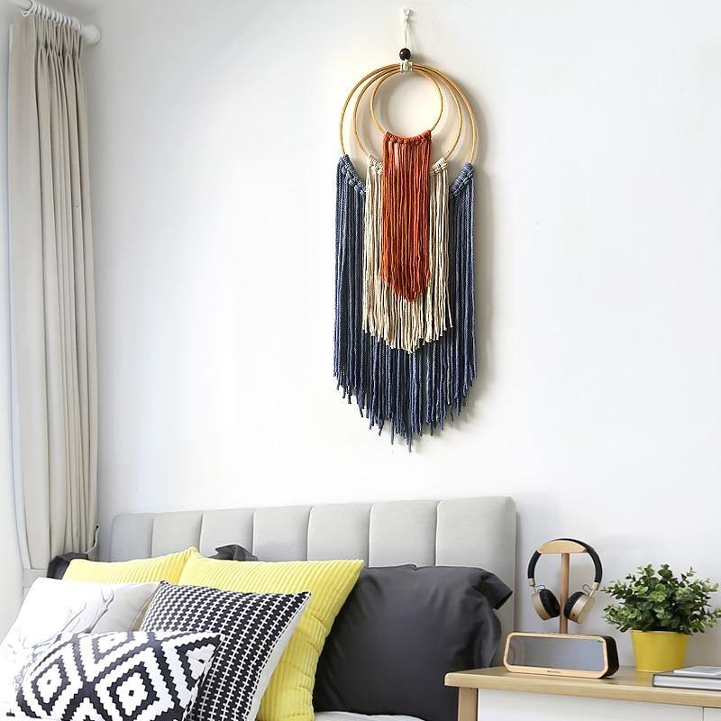 Mexican Home Decoration Hand-woven Macrame Dyed Tapestry Wall Hanging  Living Room Bedroom Study Boho Decor Wall Tapestry freeshipping - herfreespirit