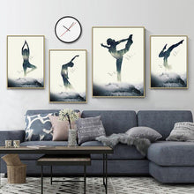 Load image into Gallery viewer, Nordic Style Home Decor Printed Paintings Being A Yoga Woman Pictures Wall Art Modular Canvas Poster Modern Bedside Background
