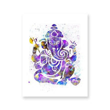 Load image into Gallery viewer, Ganesh Indian God Watercolor Yoga Poster Spiritual Wall Art Canvas Painting Meditation Print Decorative Picture Zen Home Decor