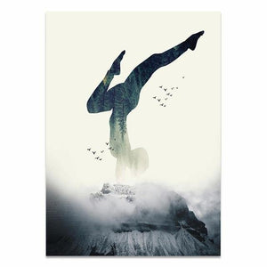 Nordic Style Home Decor Printed Paintings Being A Yoga Woman Pictures Wall Art Modular Canvas Poster Modern Bedside Background