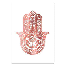 Load image into Gallery viewer, Yoga Art Print Rose Gold Wall Art Flower of Life Poster Hamsa Canvas Painting Wall Painting Decoration Picture Modern Room Decor